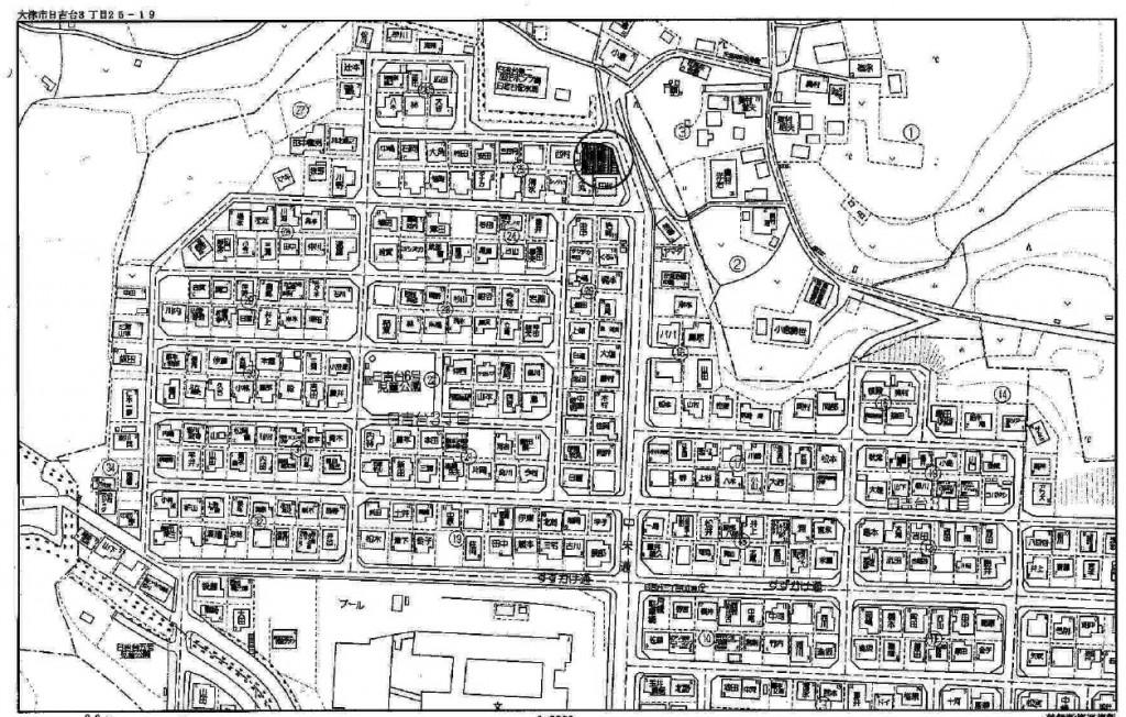 大津市日吉台3丁目土地古家有 71.42T
